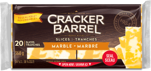 Cracker Barrel Cheese Slices - Marble - 20 Slices - 360 g