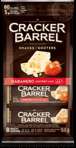 Cracker Barrel Snack - Habanero Monterey Jack - 8 Snacks - 168 g