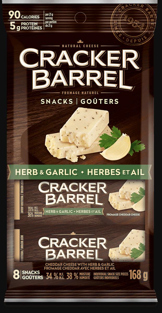 Cracker Barrel Snack - Herb & Garlic - 8 Snacks - 168 g