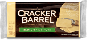 Cracker Barrel Cheese Block - Medium White - 270 g