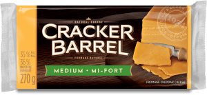 Cracker Barrel Cheese Block - Medium - 270 g