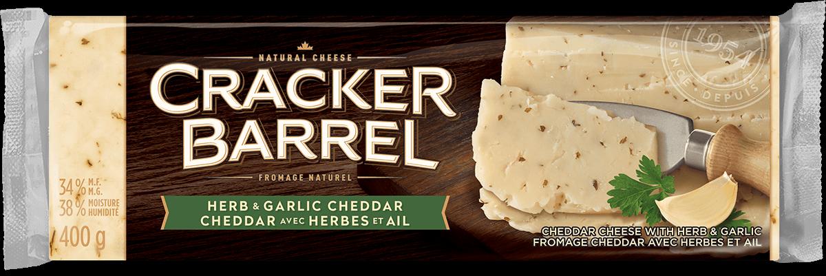 Cracker Barrel Cheese Block - Herb & Garlic - 400 g