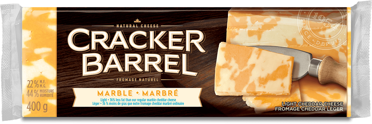Cracker Barrel Cheese Block - Marble Light - 400 g