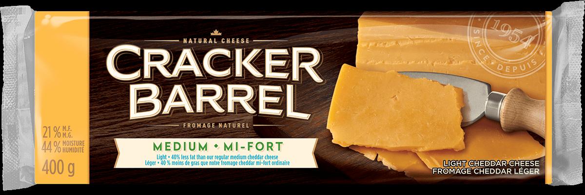 Cracker Barrel Cheese Block - Medium Light - 400 g