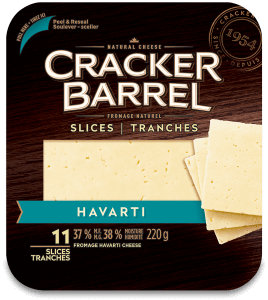 Cracker Barrel Cheese Slices - Havarti - 11 Slices - 220 g
