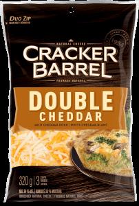 Cracker Barrel Shredded Cheese - Double Cheddar - 320 g