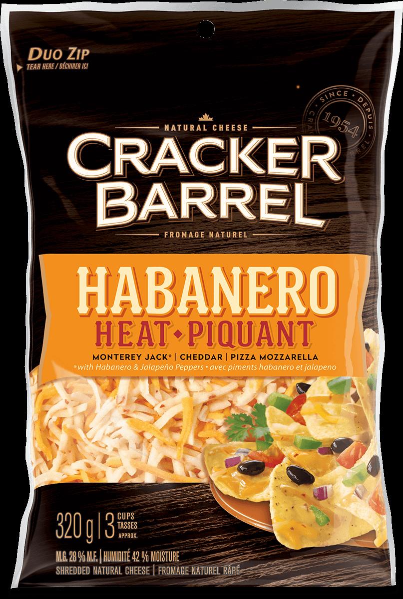 Cracker Barrel Shredded Cheese - Habanero Heat - 320 g