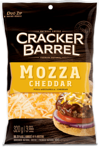 Cracker Barrel Shredded Cheese - Mozza Cheddar - 320 g