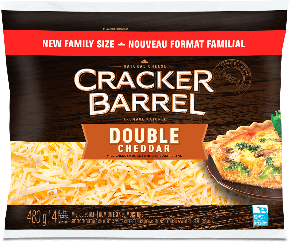 Cracker Barrel Shredded Cheese - Double Cheddar - 480 g