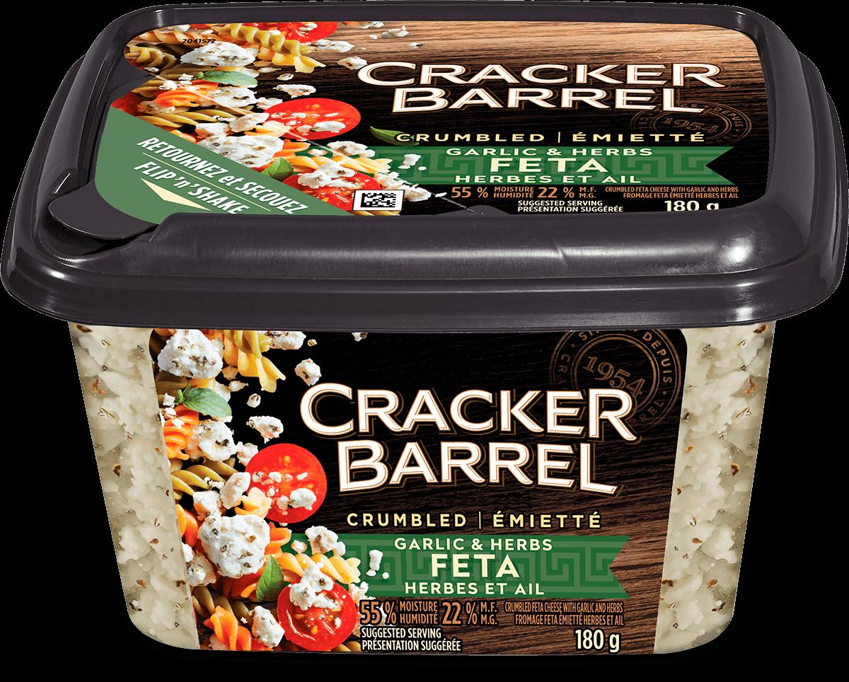 Cracker Barrel Feta - Herb and Garlic - 180 g
