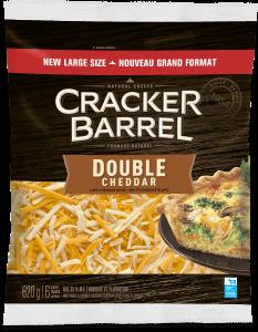 Cracker Barrel Shredded Cheese - Double Cheddar - 620 g